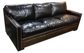 Sleeper Leather Sofa Rustic Leather Hide A Way Bed And Sleeper Sofas