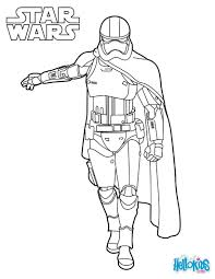 Coloriage de Star Wars du capitaine Phasma dans le reveil de la