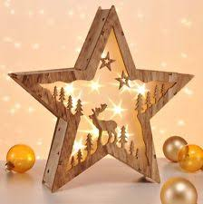 weihnachtsdekoration aus holz led garten zur weihnachtsdekoration aus holz ebay