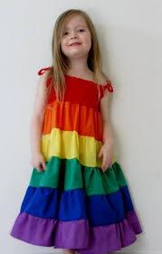 girls rainbow dress 2016 2017 b2b fashion