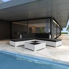 Gartenmobel Rattan Weis Vidaxl Gartenmöbel Poly Rattan Set Lounge Weiß Real