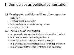 some considerations on democracy in the banking union european bank
