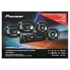 Average 3 Car Garage Size by Pioneer 4 Speaker Car Audio System Package Walmart Com