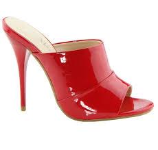 new red patent high heel slide mule stiletto open toe women u0027s