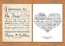wedding keepsake quotes wedding vow keepsake print by b is for brown gifts