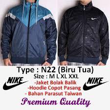 Jual Jaket Nike jual jaket nike windrunner bolak balik import taiwan n22 biru tua