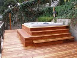 Cheap Backyard Patio Ideas Outdoor Backyard Deck Designs With Tub Ideas Lovely