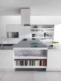 Black And White Kitchen With Curved Island Elektravetro by Home Remodeling Services North Texas Home Design Center Custom
