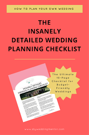 Wedding Decor Checklist An Insanely Detailed Wedding Checklist
