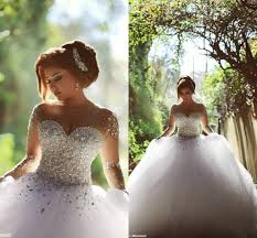 fall wedding dresses plus size 2016 sheer sleeve wedding dresses with rhinestones crystals