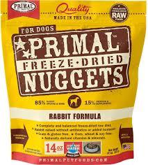 primal rabbit formula nuggets grain free freeze dried dog food 14