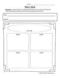 main idea worksheet 2