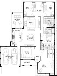 single storey house plans captivating 4 bedroom single story house plans photos best