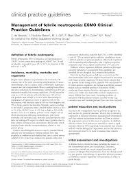 management of febrile neutropenia esmo clinical practice guidelines