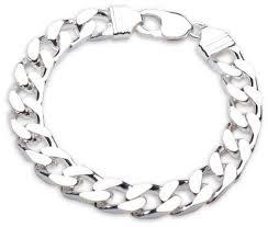 bracelet silver mens images Mens sterling silver curb bracelet 8 inch for sale newburysonline jpg