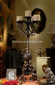 Unique Home Decoration Elegant Four Arms Iron Art Candle Stick Unique Home Decoration
