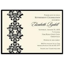 retirement invitations celebrating ornamental black retirement invitations paperstyle