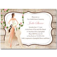 Bridal Shower Greeting Wording Vintage Garden Country Bridal Shower Invitations Online Ewbs052 As