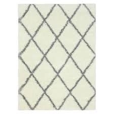 Off White Area Rugs by Nuloom Diamond Shag Rug Target