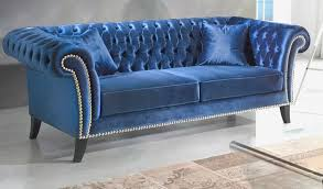 canap chesterfield canapé chesterfield velours bleu incroyable canap chesterfield en
