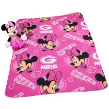 green bay packers kids room at the packers pro shop green bay packers minnie mouse with throw blanket