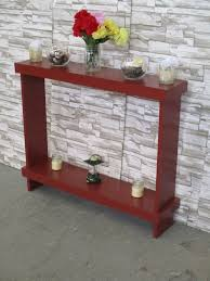 fully assembled end tables narrow console table sofa table skinny table entryway table wood