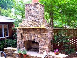 Outdoor Fieldstone Fireplace - outdoor fireplace design gallery charlotte pavers u0026 stone