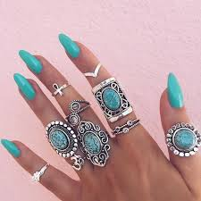 fashion long rings images 67 best boho ring style images crown rings flower jpg