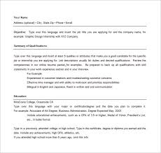 free combination resume template combination resume template 10 free word excel pdf format