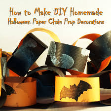 How To Make Diy Homemade Halloween Paper Chain Prop Decorations