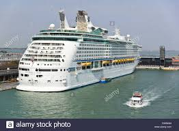 venice royal caribbean voyager of the seas cruise ship stock