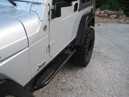 lj jeep lifted fabrication rocker guards for jeep wrangler tj