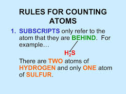 Counting Atoms Worksheet 1 Counting Atoms Ppt