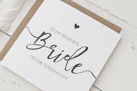to my on our wedding day card to my beautiful on our wedding day card by wolfe