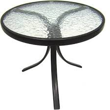 Side Patio Table Mainstays Outdoor Glass Top Side Table Walmart