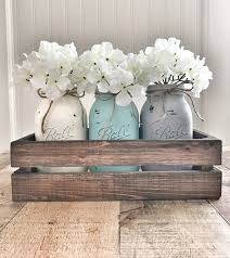 Mason Jar Wall Planter by Mason Jar Centerpiece Mason Jar Decor Rustic Home Decor