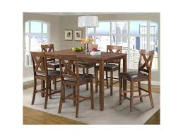 7 Piece Dining Room Set Elements International Alex Transitional 7 Piece Dining Set