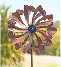 led flower wind spinner wind spinners plow hearth