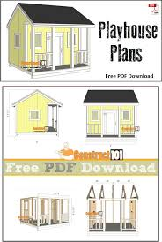 Free House Plans With Material List Best 25 Playhouse Plans Ideas On Pinterest Kid Playhouse