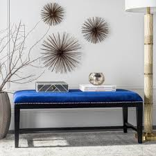 safavieh zambia royal blue bench mcr4533b the home depot