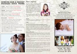 bridal makeup packages hair makeup packages rates rizza mae aganap professional