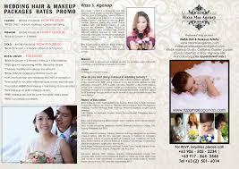 hair u0026 makeup packages rates u2013 rizza mae aganap u2013 professional