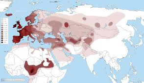 World Map Middle East by Distribution Maps Of Y Chromosomal Haplogroups In Europe The