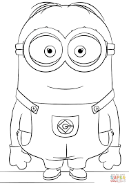 minion dave coloring free printable coloring pages