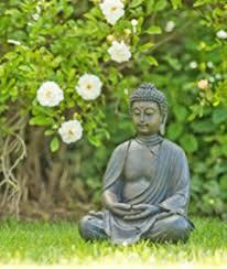 large detailed look resin buddha garden ornament 50cm
