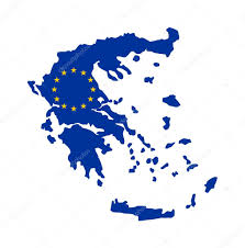Europe Flag Map by Eu Flag On Map Of Greece U2014 Stock Photo Speedfighter17 5466478