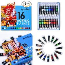 acrylic paint kit set of 16 colors color tube paints painting