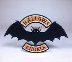 hallows angels vampire bat halloween biker patch u2013 monsterologist