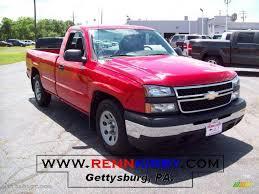 Chevrolet Silverado Work Truck - 2006 victory red chevrolet silverado 1500 work truck regular cab