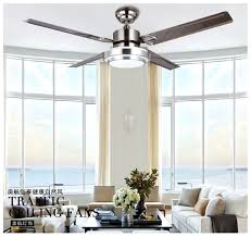Quality Ceiling Fans With Lights Factory Wholesale High Quality 52 Inch Stainless Steel Led Ceiling